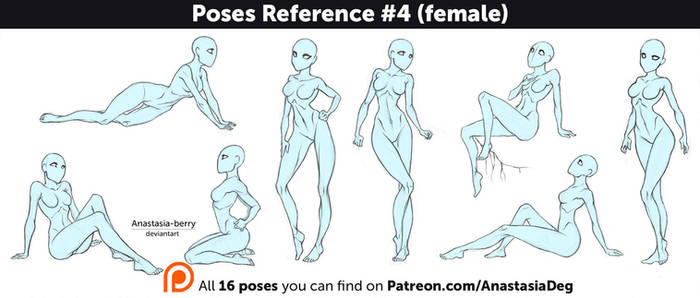 Poses Reference #4 (female)