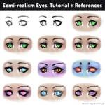 Semi-realism Eyes. Tutorial + References