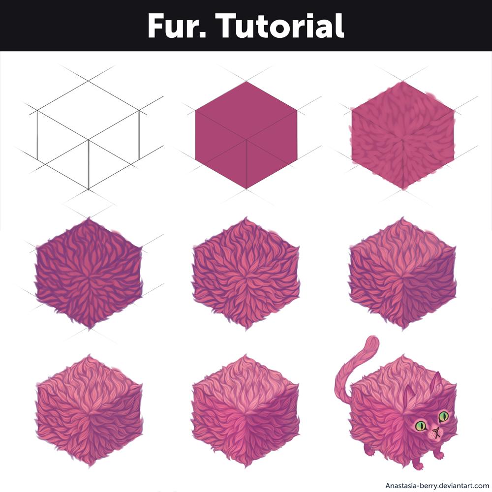 clockbirds how to draw fur