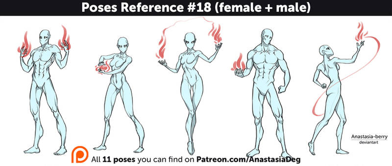 Poses Reference #18 (female + male)