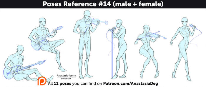 Poses Reference #14 (male + female)
