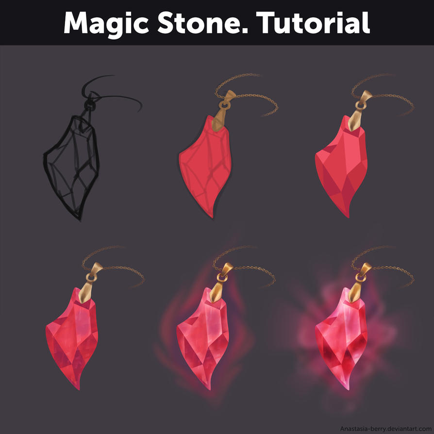 Magic Stone. Tutorial by Anastasia-berry