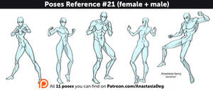 Poses Reference #21 (female + male)