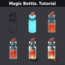 Magic Bottle. Tutorial by Anastasia-berry