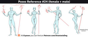 Poses Reference #24 (female + male)