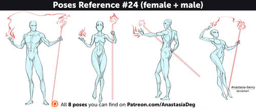 Poses Reference #24 (female + male) by Anastasia-berry