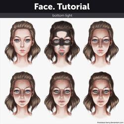 Face. Tutorial - Bottom light by Anastasia-berry