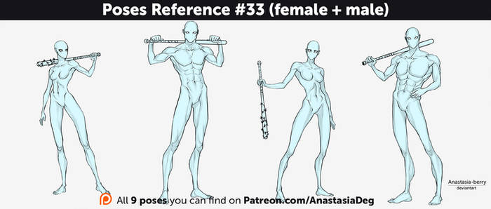 Poses Reference #33 (female + male)