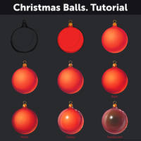 Christmas Balls. Tutorial by Anastasia-berry