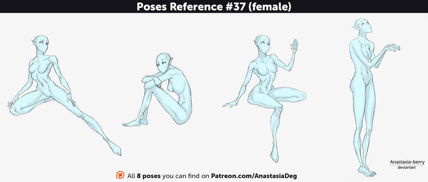 Poses reference 37 female by anastasia berry