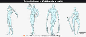 Poses Reference #38 (female + male)