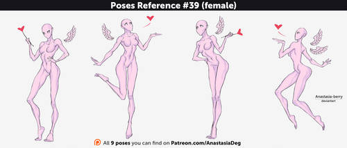Poses Reference #39 (female) by Anastasia-berry