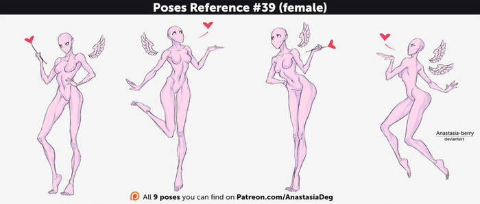 Poses Reference #39 (female)