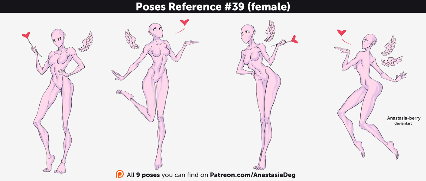 Poses Reference #39 (female) by Anastasia-berry on DeviantArt