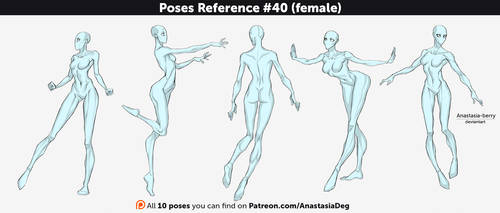 Poses Reference #40 (female) by Anastasia-berry