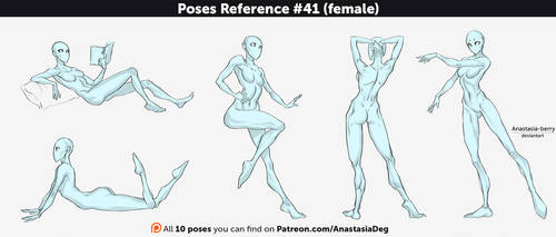 Poses Reference #41 (female) by Anastasia-berry