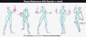Poses Reference #46 (female + male)