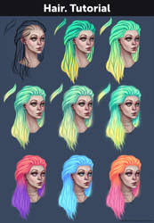 Hair. Tutorial + References by Anastasia-berry