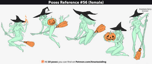Poses Reference #56 (female) by Anastasia-berry