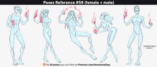 Poses Reference #59 (female + male) by Anastasia-berry