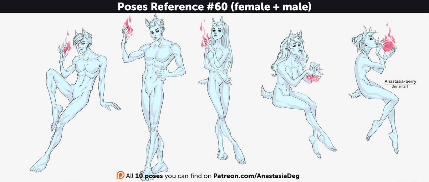 Poses Reference 60 Female Male By Anastasia Berry On Deviantart