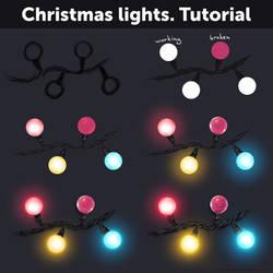 Christmas lights. Tutorial by Anastasia-berry