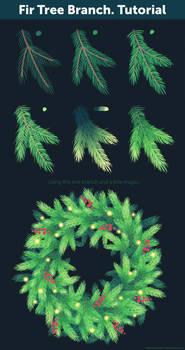 Fir Tree Branch. Tutorial
