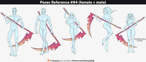 Poses Reference #64 (female + male) by Anastasia-berry