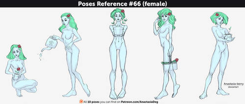 Poses Reference #66 (female) by Anastasia-berry