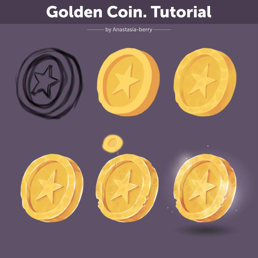 Golden Coin. Tutorial by Anastasia-berry