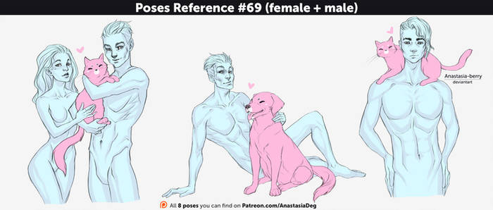 Poses Reference #69 (female + male)