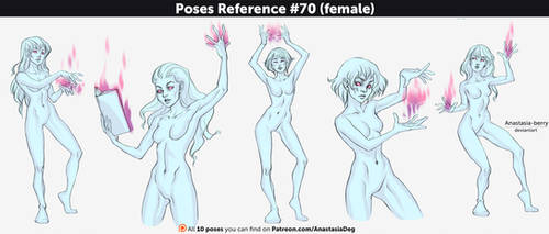 Poses Reference #70 (female) by Anastasia-berry