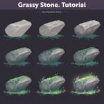 Grassy Stone. Tutorial