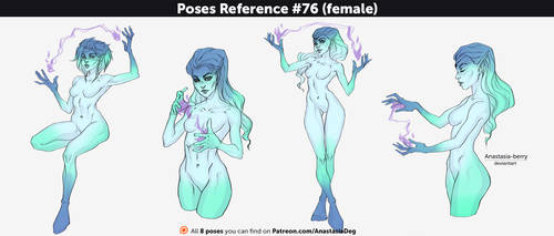 Poses Reference #76 (female) by Anastasia-berry