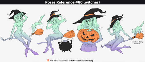 Poses Reference #80 (witches)