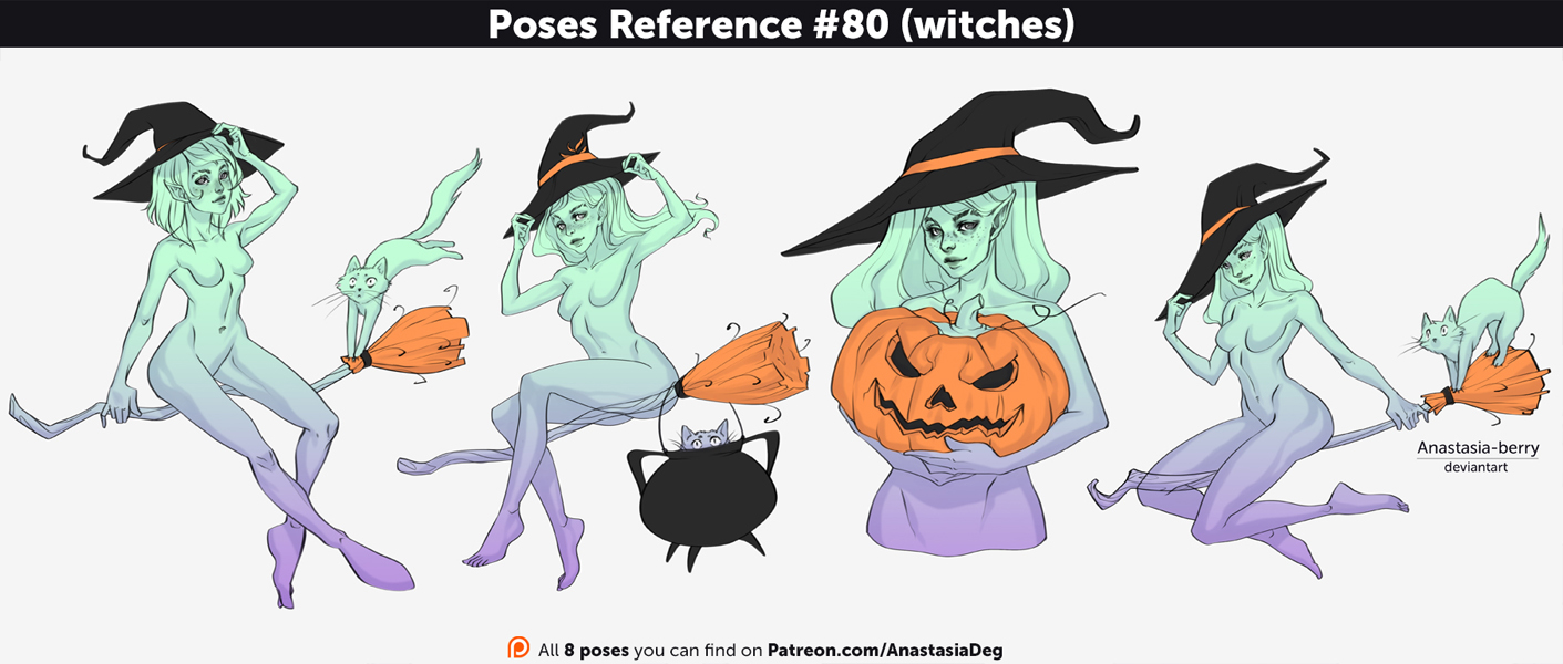 Poses Reference #80 (witches) by Anastasia-berry on DeviantArt
