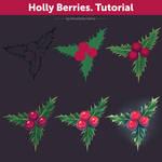 Holly Berries. Tutorial