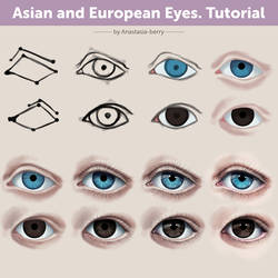 Asian and European Eyes. Tutorial