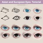 Asian and European Eyes. Tutorial