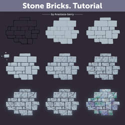 Stone Bricks. Tutorial | How To Draw