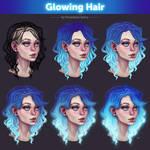 Glowing Hair 2. Tutorial