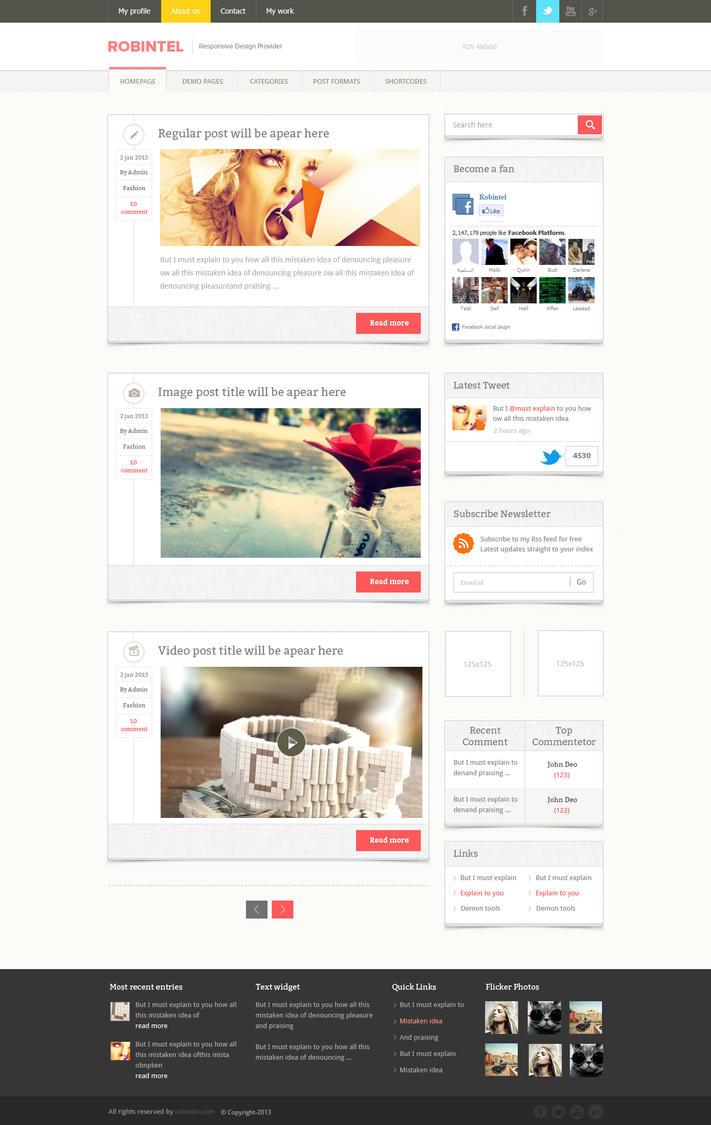 Blog Homepage Design by NiravJoshi on DeviantArt