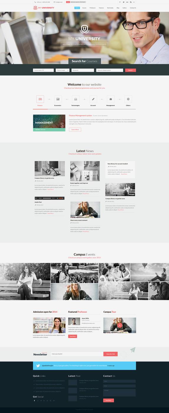 Education WordPress theme by NiravJoshi on DeviantArt