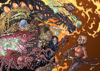 Monster Stampede COLORED by Voodoodwarf