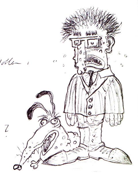 Dog-guy Doodle by Voodoodwarf