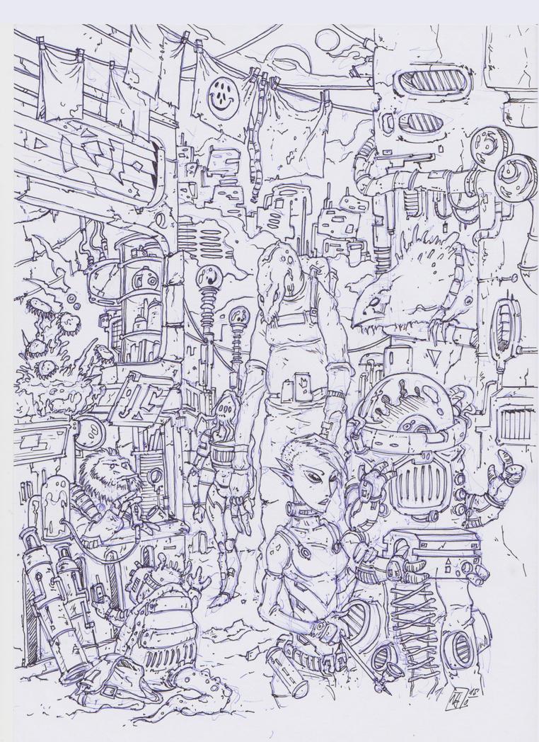 Alien Bazaar by Voodoodwarf