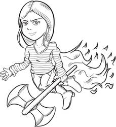 FanArt - Marceline LineArt