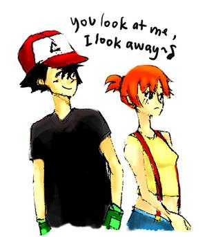 you look at me, i look awaaay