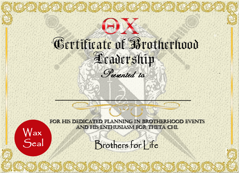 Theta Chi Certificate of Leadership Award by KimberlyAnne7 on DeviantArt