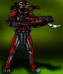Pred Shock Trooper by DementedInk